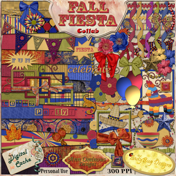 Fall Fiesta Collaborative Kit - Click Image to Close