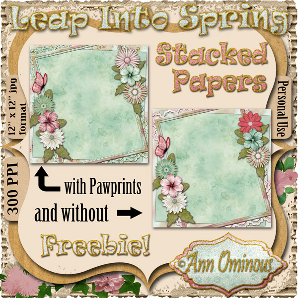 Leap Into Spring Stacked Papers - Click Image to Close