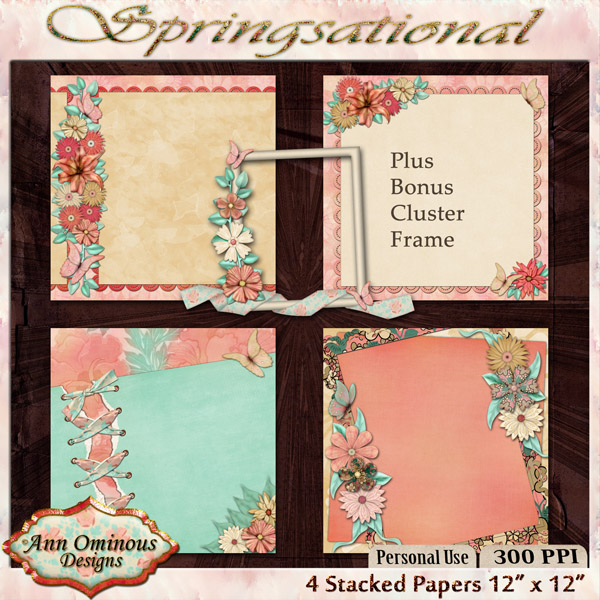 Springsational Stacked Papers