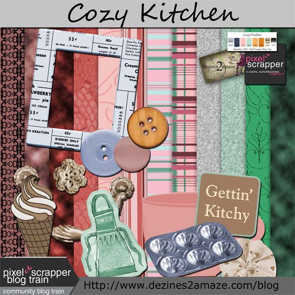 Pixel Scrapper Blog-Train Cozy Kitchen